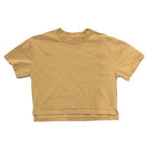 Boxy Cut Oversized Camel Heavy Cotton T-Shirt